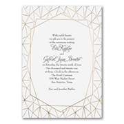 Geo Foil - Invitation - White